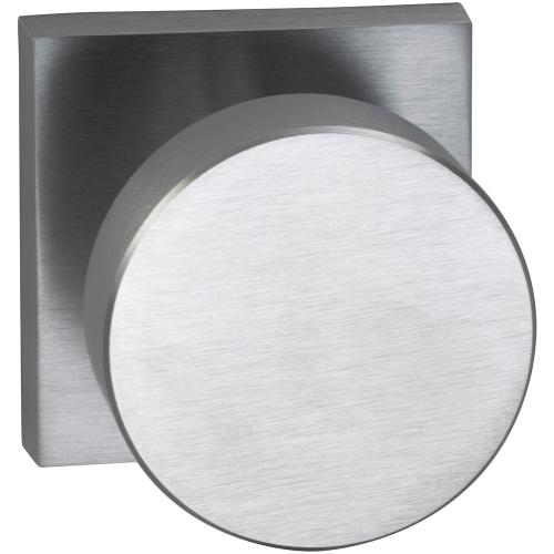 Interior Modern Knob Latchset with Square Rose in (US26D Satin Chrome Plated)
