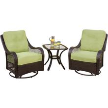 Orleans 3 Pc. Seating Set - Two Swivel Rocking Chairs with a 24 x 24 in. End Table