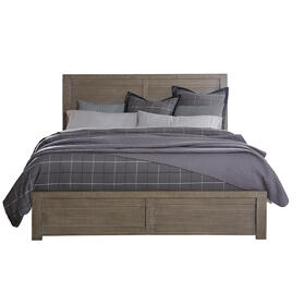 Ruff Hewn Full Panel Bed Headboard in Weathered Taupe