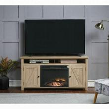 ACME Cordell TV Stand (Optional Fireplace) - 91396 - Farmhouse - Melamine Veneer, Paper Veneer, PB, Ply - Natural