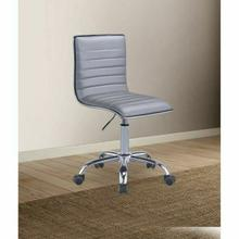 ACME Alessio Office Chair - 92515 - Silver PU & Chrome