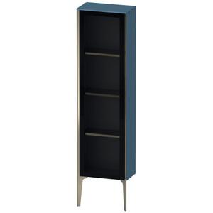 Semi-tall Cabinet With Mirror Door Floorstanding, Stone Blue High Gloss (lacquer)