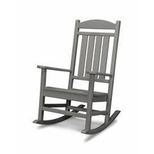Slate Grey Presidential Rocking Chair