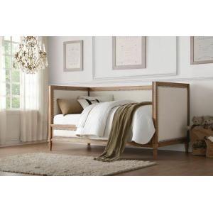 ACME Charlton Daybed - 39175 - Cream Linen & Salvage Oak