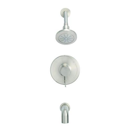 Brushed Nickel Amalfi Tub & Shower Trim Kit, 1.75gpm