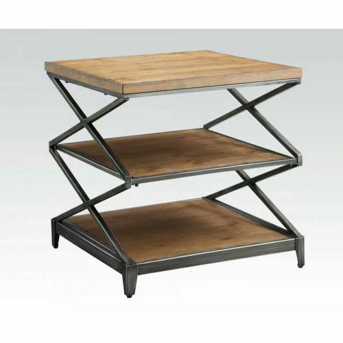 Acme Furniture Inc - ACME Fabio End Table - 80446 - Oak & Antique Black