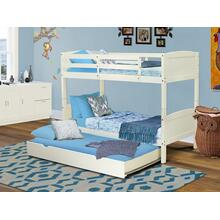 West Furniture Albury Twin Bunk Bed in White Finish with Convertible Trundle & Drawer