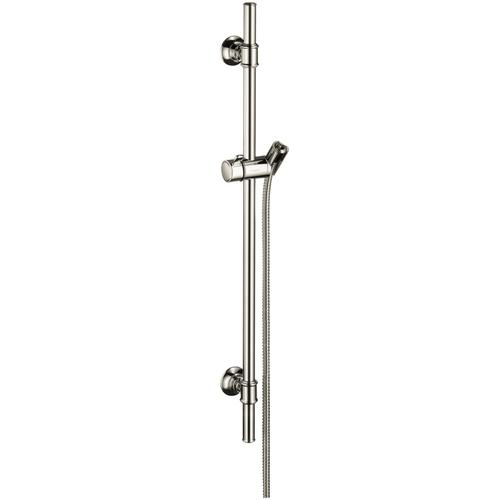 Polished Nickel Shower set 0.90 m with hshower hose