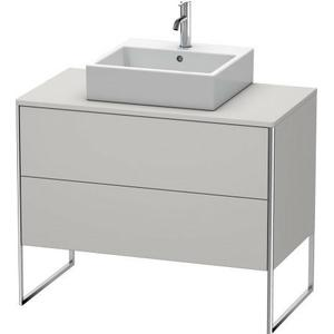 Vanity Unit For Console Floorstanding, Nordic White Satin Matte (lacquer)
