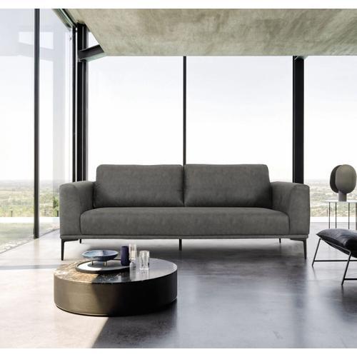 VIG Furniture - Divani Casa Jada - Modern Dark Grey Fabric Sofa