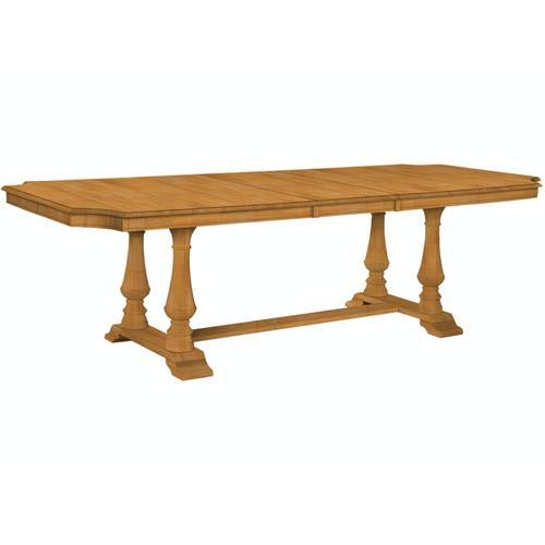 John Thomas Furniture - Grove Park Ext Table Top w/ Double Pedestal Base