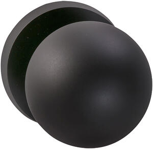 Interior Modern Knob Latchset in (US10B Black, Oil-Rubbed, Lacquered) Product Image