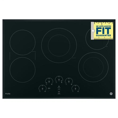 "GE Profile 30"" Black Built-In Touch Control Electric Cooktop"