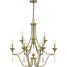 View Product - Joules Chandelier in Aged Brass