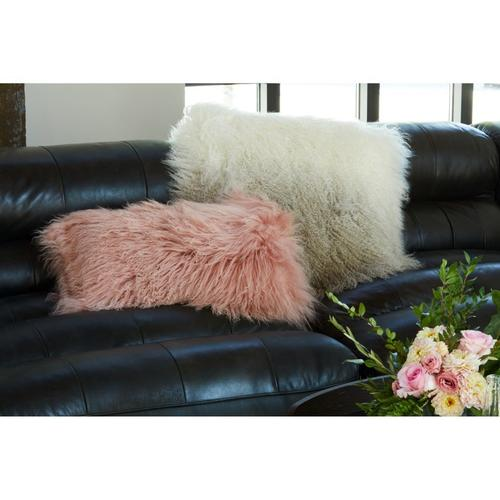 Moe's Home Collection - Lamb Fur Pillow Rect. Pink