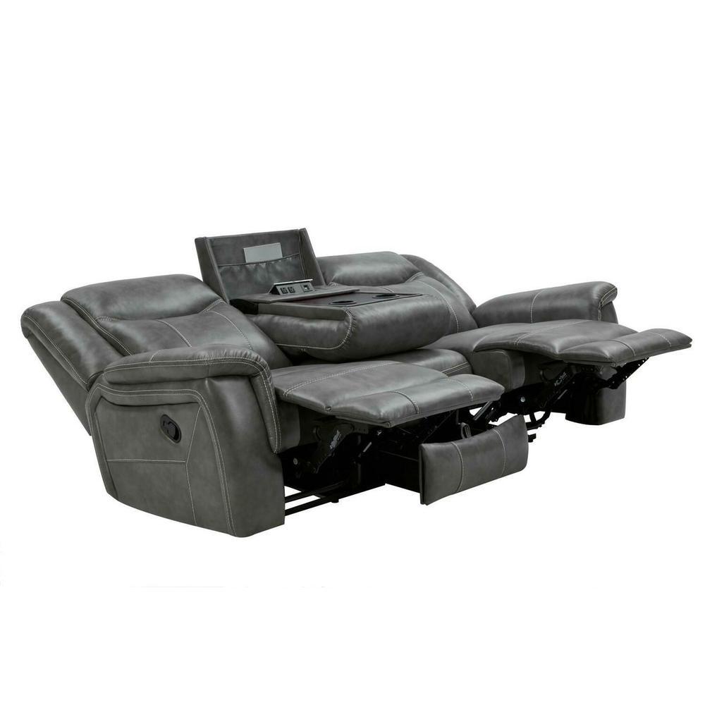 Conrad Transitional Grey Motion Sofa
