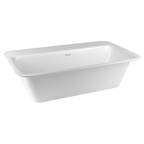 "Freestanding or built-in bathtub in Cristalplant® Matte white L 70-7/8"" W 37-3/8"" H 21-5/8"" Side ledge Possible tap mounting on the ledge Drain included CSA certifiedPlease check if the capacity load of the slab is in comformity with the specificatio nsPlease contact Gessi North America for freight terms"