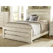 5/0 Queen Slat Footboard - Distressed White Finish