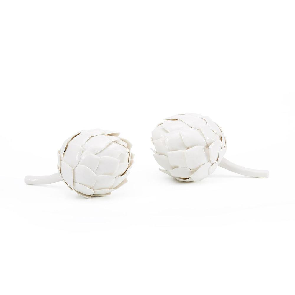 Artichoke Porcelain Figure, White