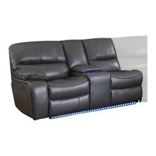 View Product - Power Left Side Reclining Love Seat with Center Console, LED and USB Port