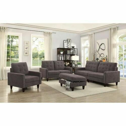 ACME Nate Chair - 50252 - Chocolate Fabric