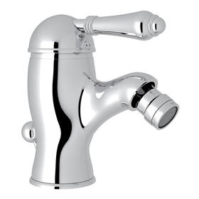 Viaggio Single Lever Single Hole Bidet Faucet - Polished Chrome with Metal Lever Handle