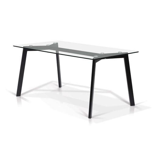 Bates Rectangular Glass Top Dining Table