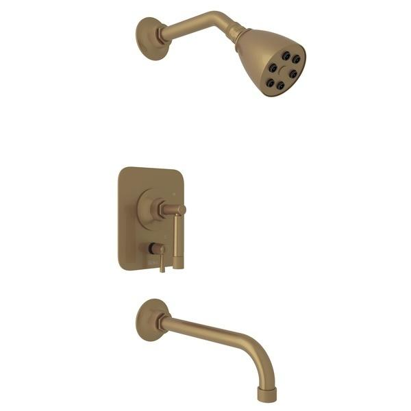 French Brass GRACELINE PRESSURE BALANCE SHOWER PACKAGE with Metal Lever Graceline Series Only