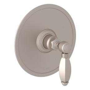 Satin Nickel Italian Bath Pressure Balance Trim Without Diverter with Hex Series Only Metal Lever