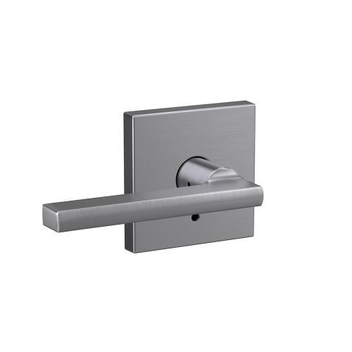 Custom Latitude Lever with Collins Trim Hall-Closet and Bed-Bath Lock - Satin Chrome
