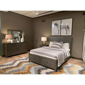 See Details - Maxton 3 Piece King Panel Bedroom Set: Bed, Dresser, Mirror