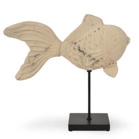 Resin Goldfish on Aluminum Stand