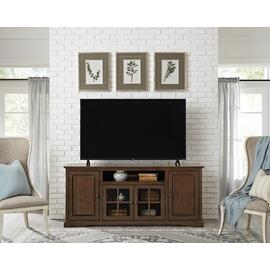 See Details - 74 Inch Console - Auburn Cherry Finish