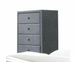 ACME Saveria Chest, 2-Tone Gray PU - 25666