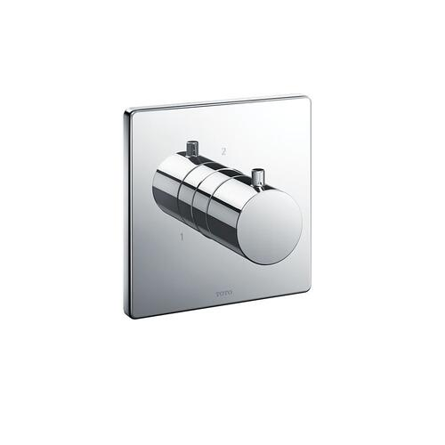 Three-way Diverter Trim - Square - Polished Chrome Finish