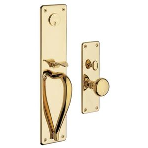 Lifetime Polished Brass Trenton Entrance Trim Product Image