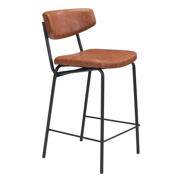 See Details - Sharon Counter Chair Vintage Brown