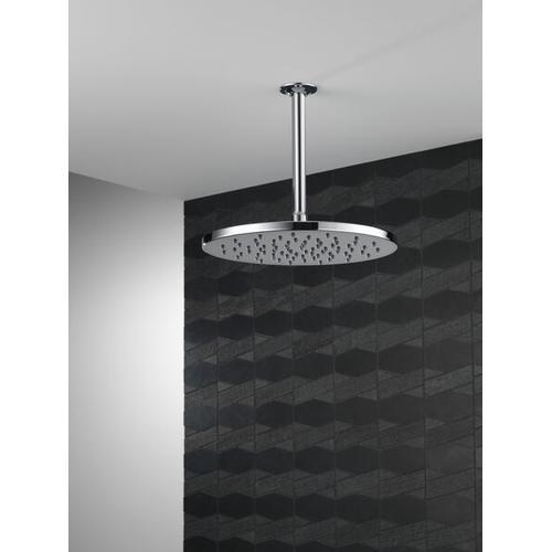 Black Stainless Single-Setting Metal Raincan Shower Head