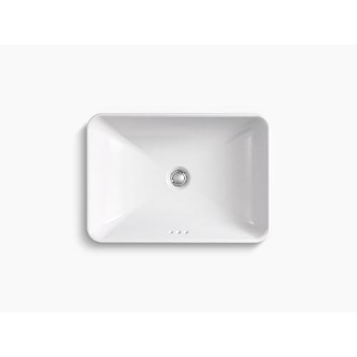 White Vessel Bathroom Sink