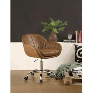 ACME Giolla Office Chair, Vintage Chocolate PU & Chrome - 92503