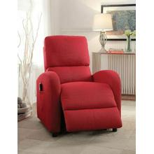 ACME Croria Recliner w/Power Lift - 59345 - Red Fabric