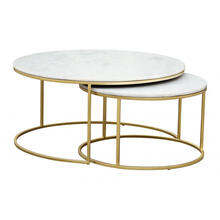 See Details - Daniel Nesting Coffee Tables Brass