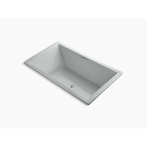 "Ice Grey 72"" X 42"" Heated Bubblemassage Air Bath With Center Drain"