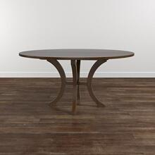 "Custom Dining 48"" Wood Table w/Atlas Tall"