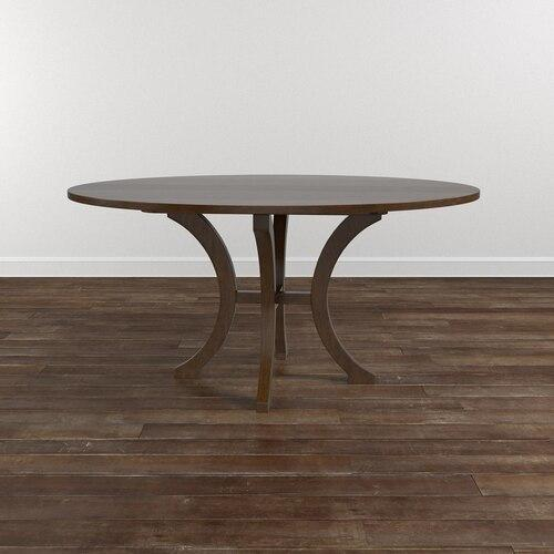 "Custom Dining 48"" Wood Table w/Turned Base"