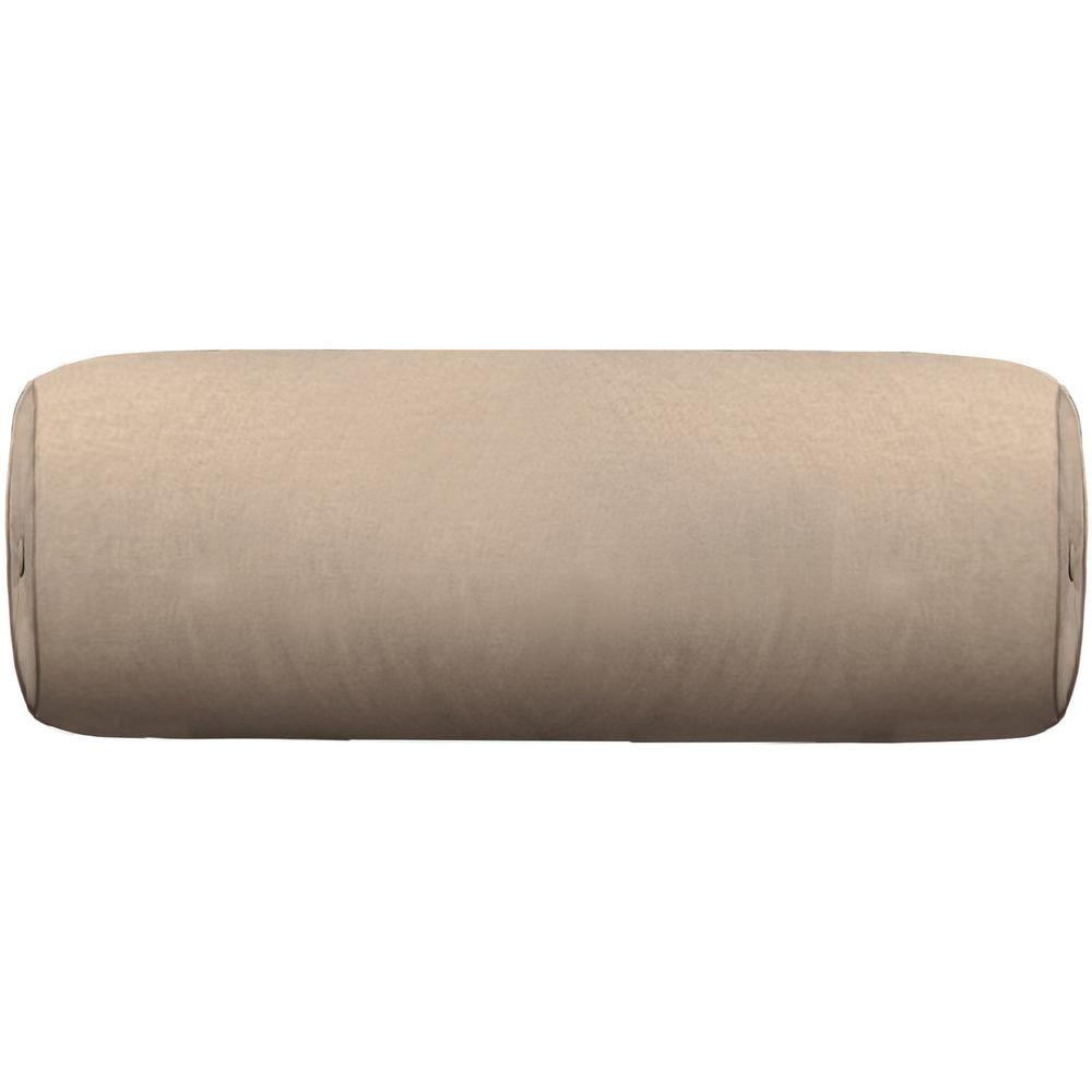 """See Details - Throw Pillows Round Bolster with button and welt (8"""" x 20"""")"""