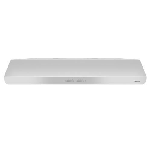 Broan® 30-Inch Convertible Under-Cabinet Range Hood, 250 CFM, White