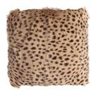 Spotted Goat Fur Pouf Cream Product Image