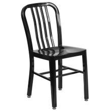 Black Metal Indoor-Outdoor Chair