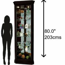 See Details - Howard Miller Duane Corner Curio Cabinet 680487